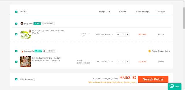 Seronoknya Shoping Online Di Shopee Malaysia