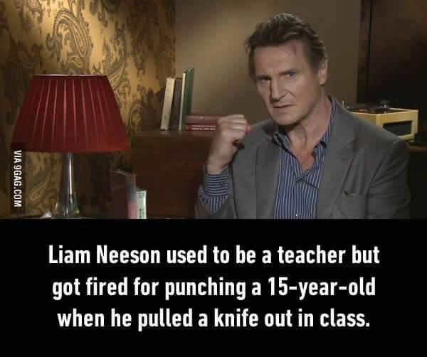but got fired for punching a 15-year-old when he pulled a knife out in class