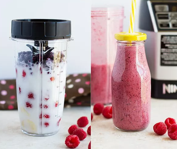 MIXED TRIPLE BERRY SMOOTHIE #drink #smoothie