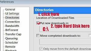 BitTorrent change save location