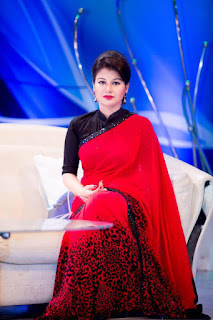 farhana nisho in red saree