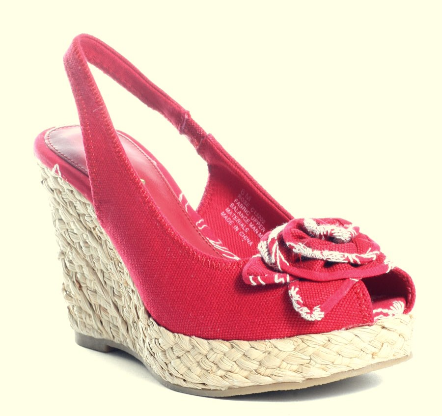 e3cce00f8d0 Red Rose Wedges Shoes | Ladies Wedges Gallery