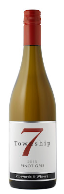 A bottle of Pinot Gris from Township 7 Vineyard and Winery