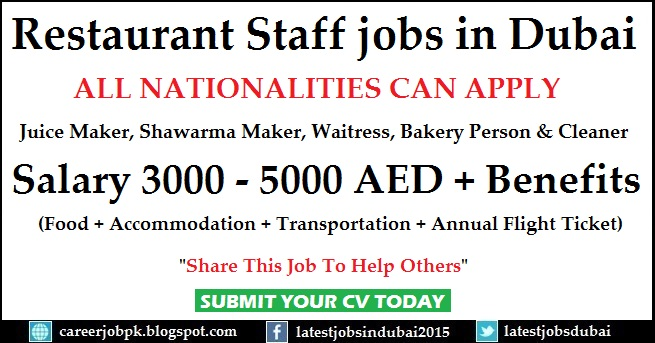 Restaurant jobs in Dubai
