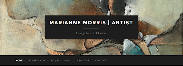 Screen shot of my webstie, mariannemorrisart.com