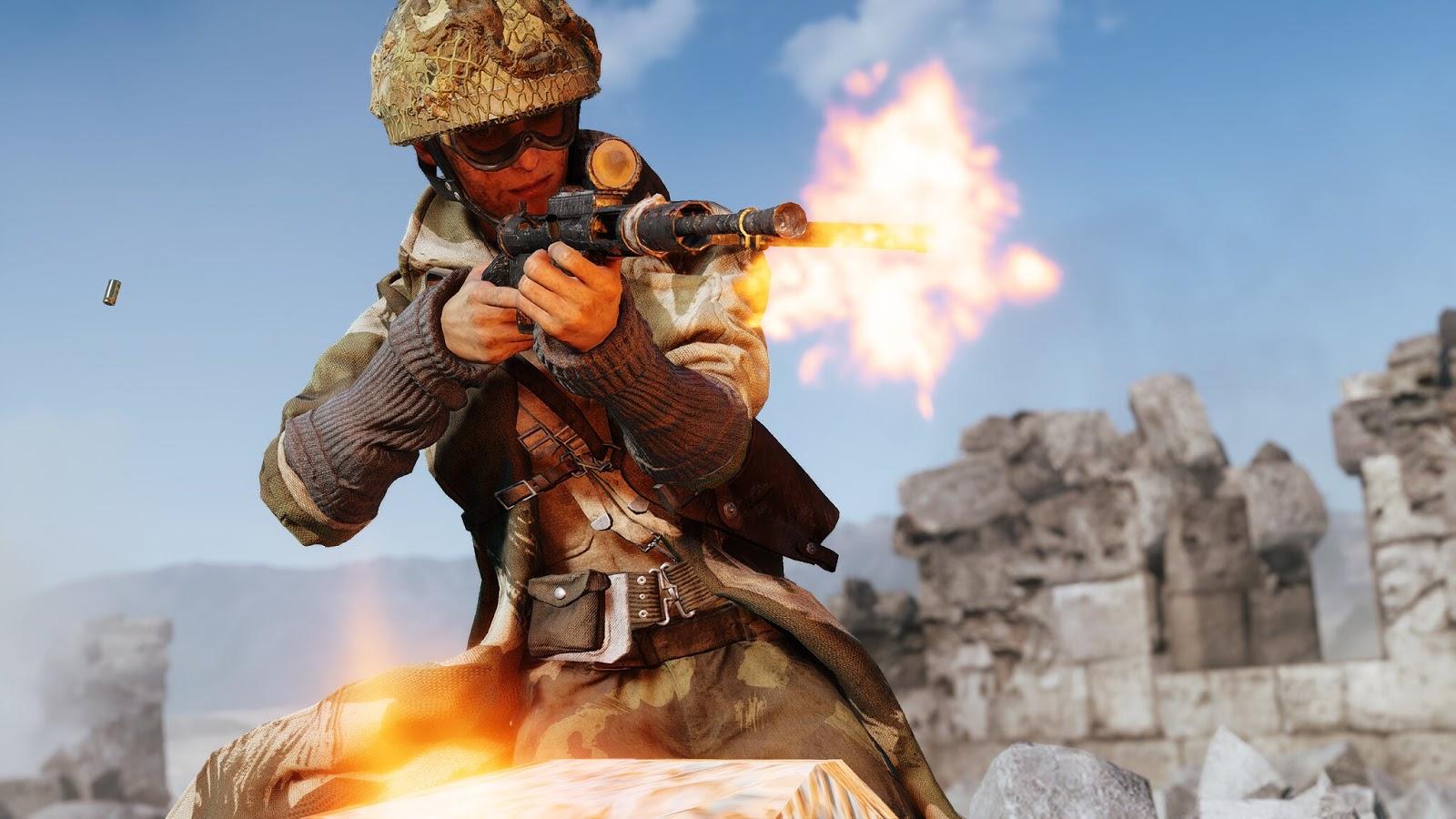 Como uma arma é criada no Battlefield V? Img: Chris177uk