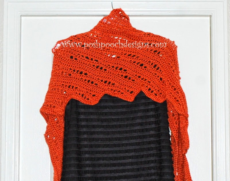 Posh Pooch Designs Dog Clothes Lace Pumpkin Wrap Shawl Crochet Pattern