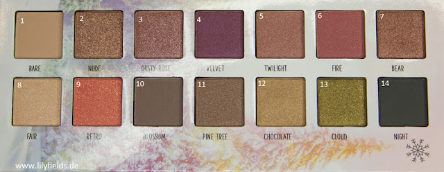 Into the Snow Glow - Face & Eyes Palette Swatches