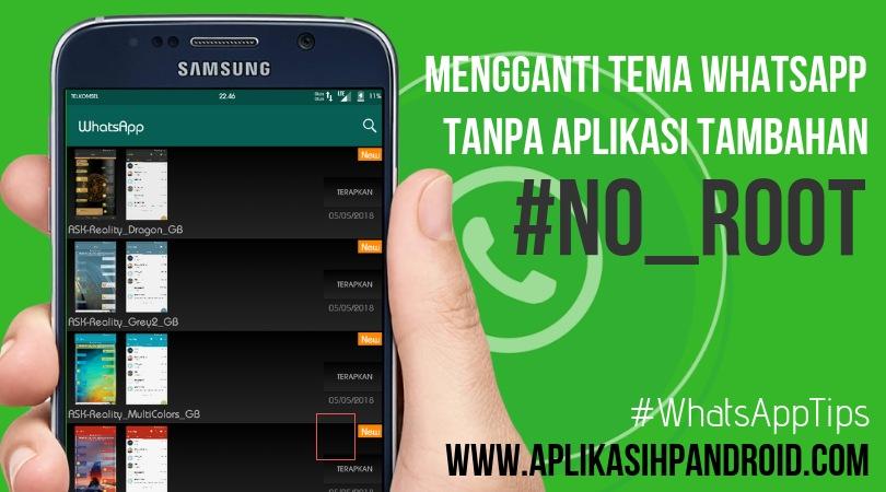 Cara mengganti tema di Whatsapp tanpa aplikasi no root 4