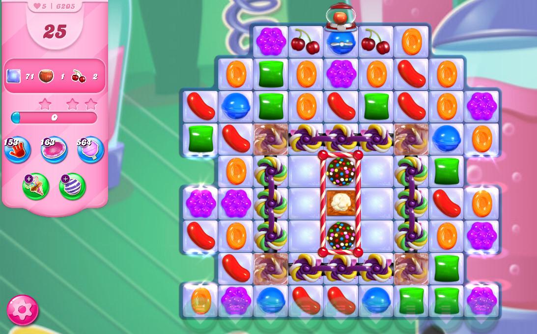 Candy Crush Saga level 6205