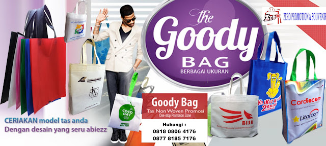 Produksi Goody bag - spundbond bag - go green bag - canvas bag - recycle bag - furing bag - goodie bag - tas kanvas - tas promosi Tangerang