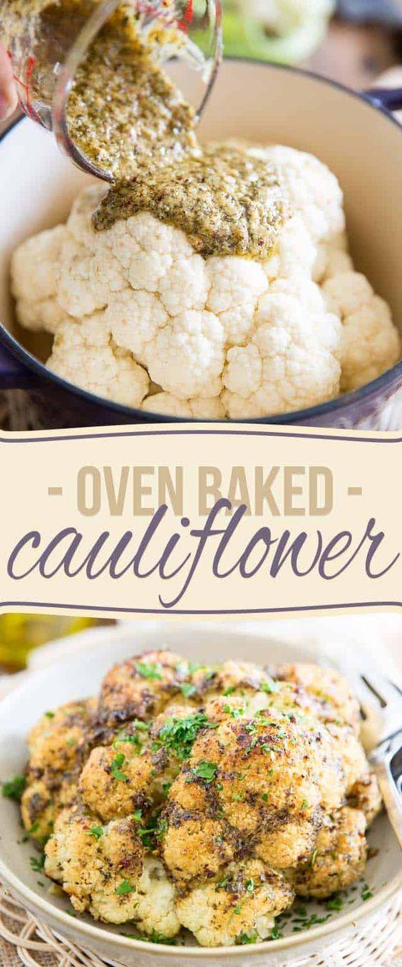 Oven Baked Whole Roasted Cauliflower