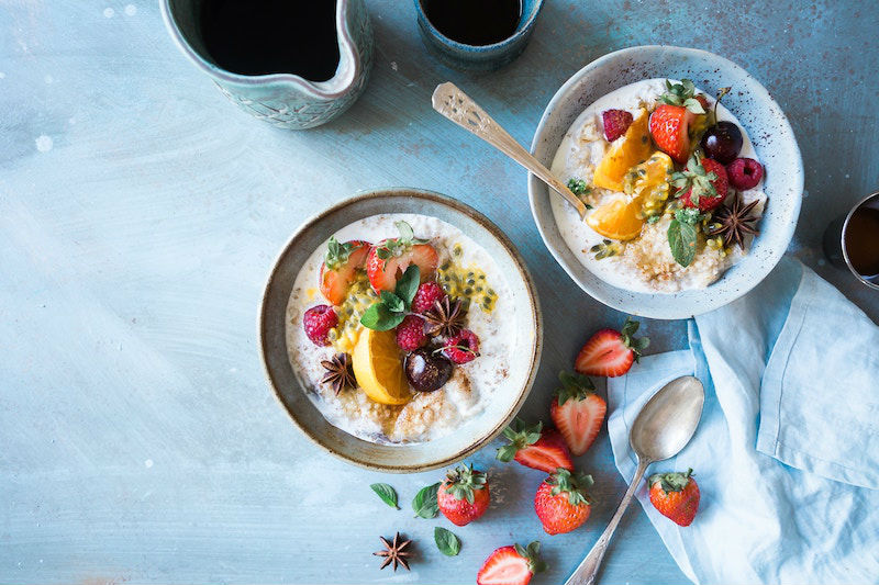 Receta de arroz con leche y frutas