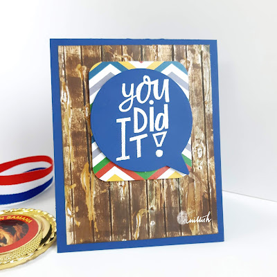 Technique card, Wood grain technique, masculine card, Congratulations, Quillish, heat embossing, dry embossing, Inspired by Loll, card for boys, graduation card, cards by ishani, DIY masculine card, easy masculine card