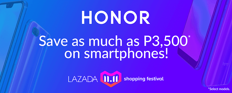 Honor X Lazada 11.11 Shopping Festival