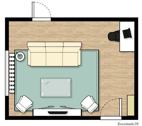 Livingroom layout option 3