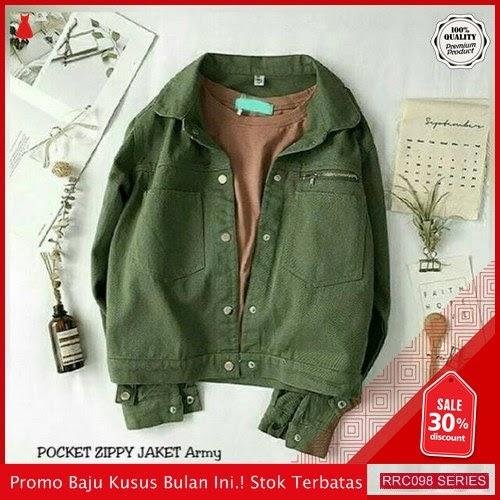 RRC098P52 Pocket Terbaru Zippy Jaket Army Wanita Terbaru BMGShop