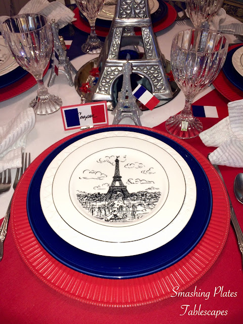 Smashing Plates Tablescapes Bastille Day