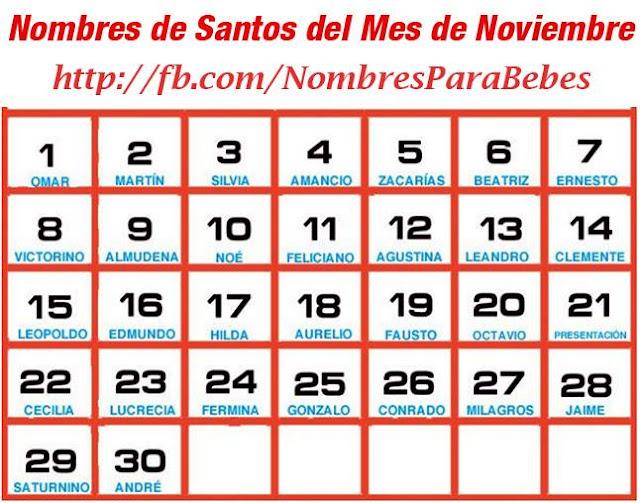 NOMBRES DE SANTOS DEL MES DE NOVIEMBRE_nombresparabebesvarones
