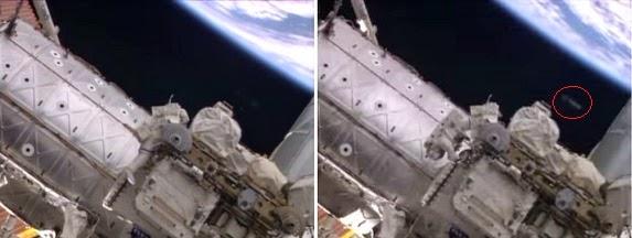 OVNI en vídeo NASA reparación Estación espacial Internacional