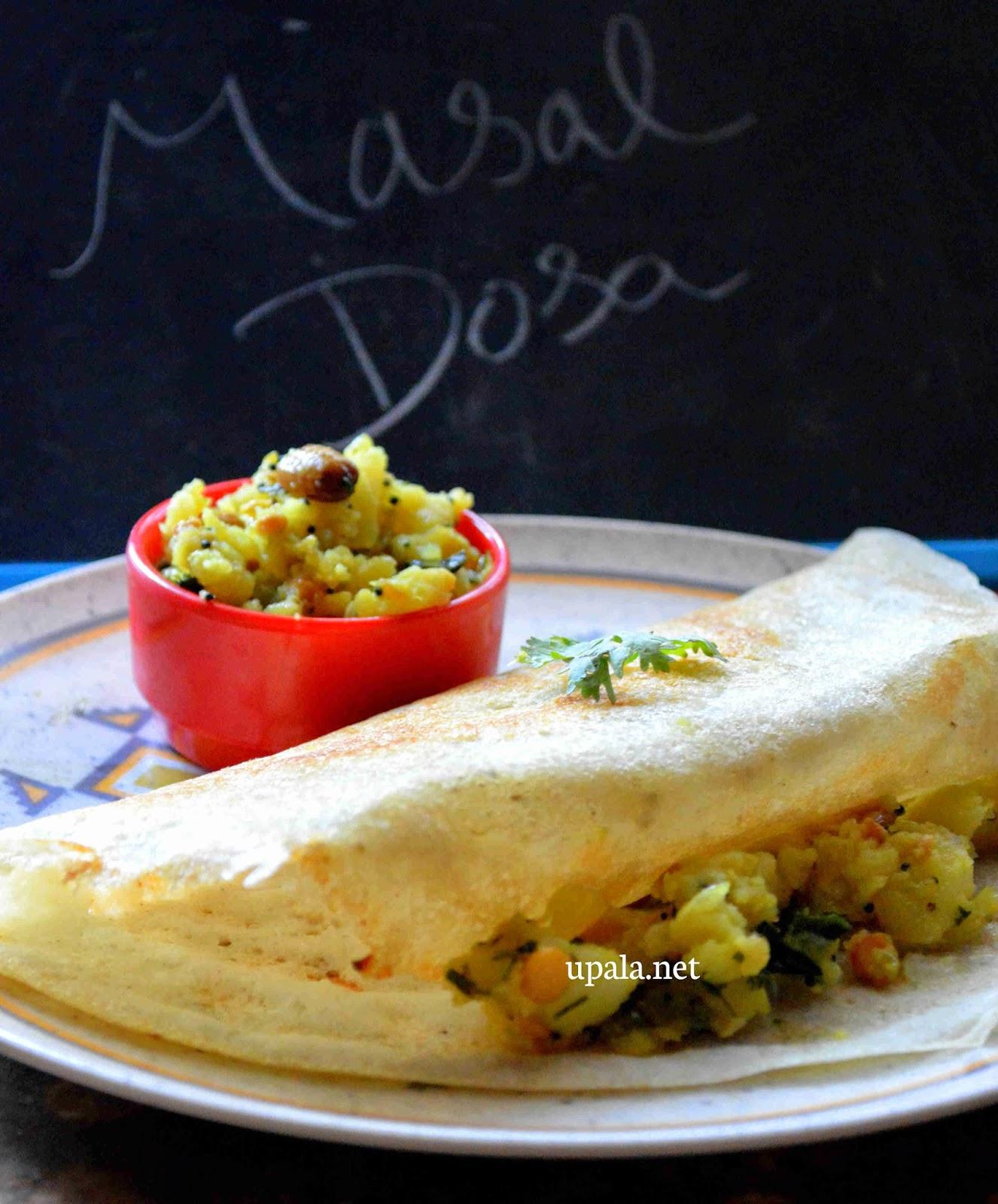 Mixed millet masala dosa