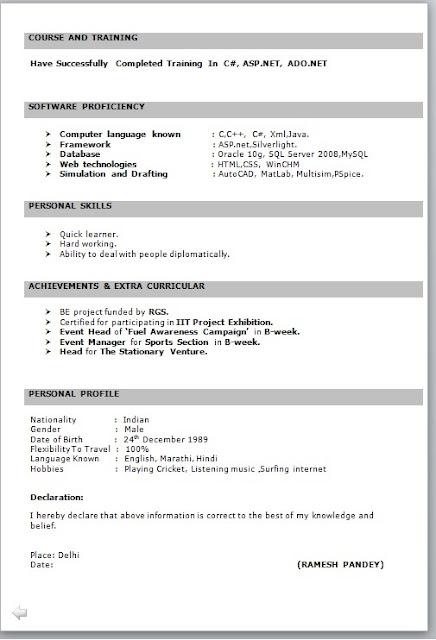 resumes models for freshers resume templates resume models for