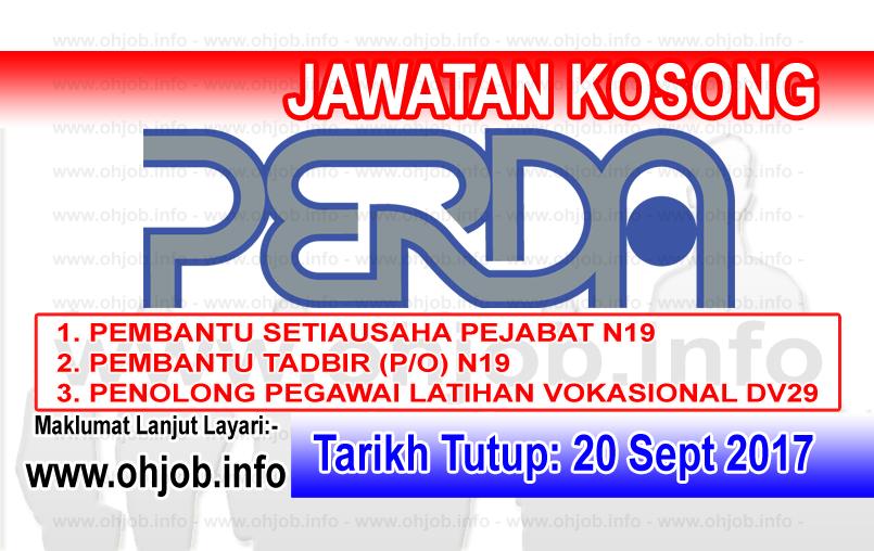 Jawatan Kerja Kosong PERDA - Lembaga Kemajuan Wilayah Pulau Pinang logo www.ohjob.info september 2017
