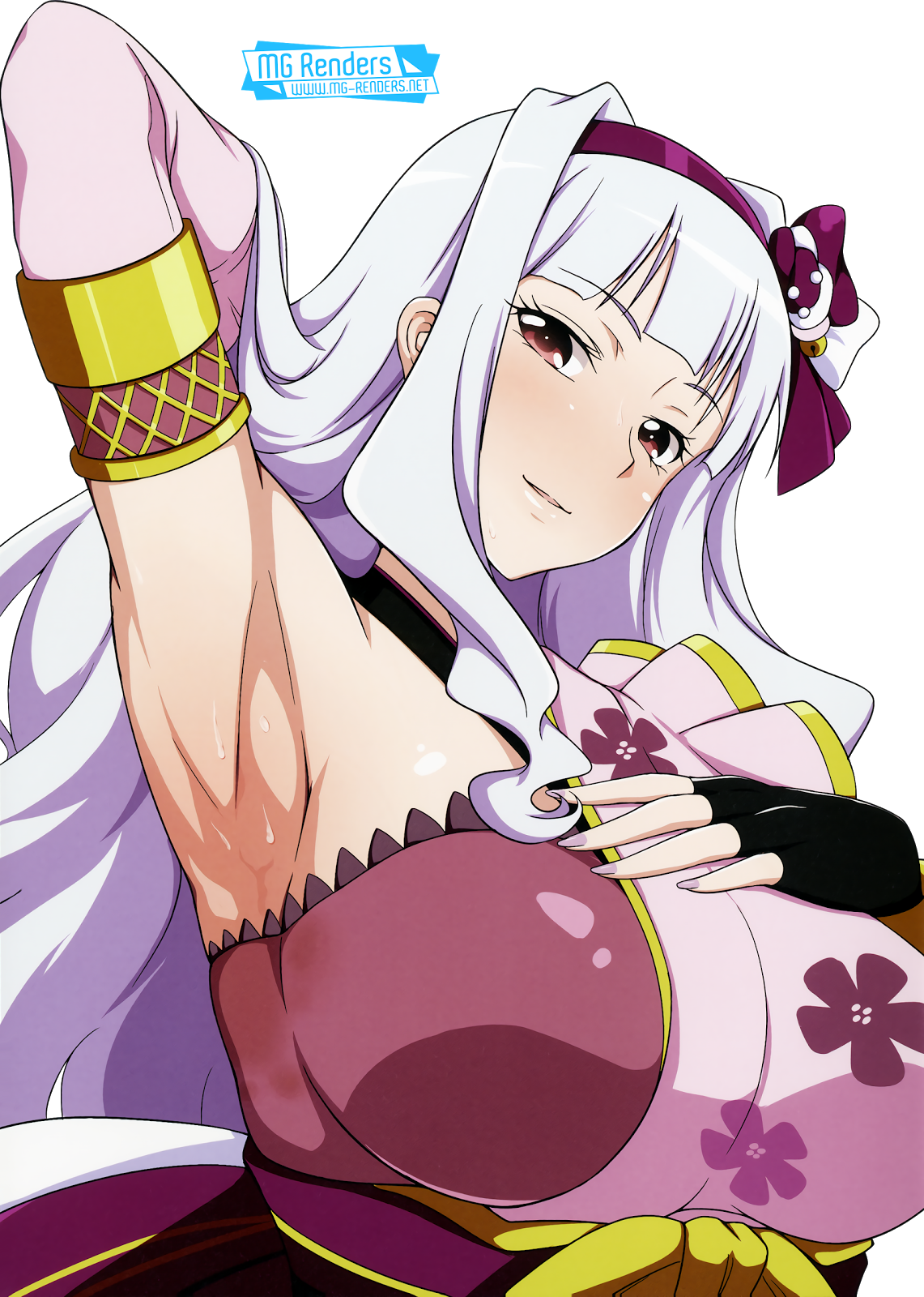 Tags: Anime, Render,  Armpit,  Huge Breasts,  Jabara Tornado,  Shijou Takane,  THE iDOLM@STER,  PNG, Image, Picture