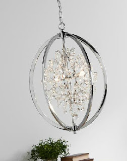 Lampara de Acero oval Decoracion Cristal Aigue