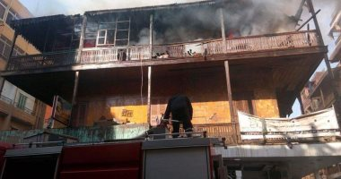 إصابة عاملين فى حريق منزل بدار السلام بسوهاج