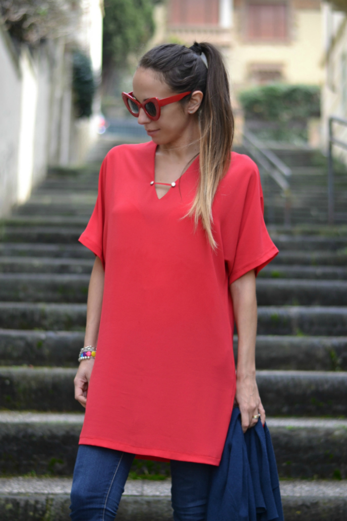 maxi maglia rossa