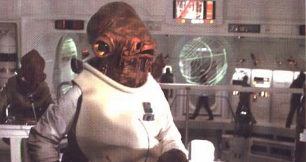 Admiral Ackbar in the Battle of Endor