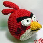 pajaro rojo angry bird amigurumi | red bird angry bird amigurumi