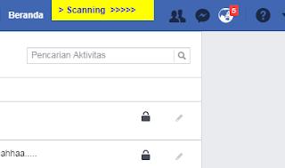 scanning dan penghapusan status facebook