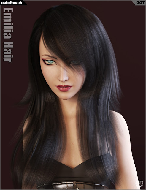 Emilia Hair and OOT Hairblending 2.0 for Genesis 3 Female