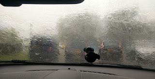 Raining a little bit