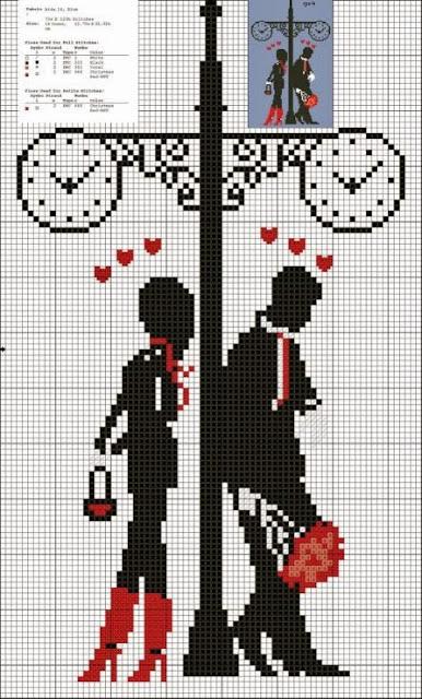 Dia dos Namorados Especial Em Ponto Cruz Com Gráficos34
