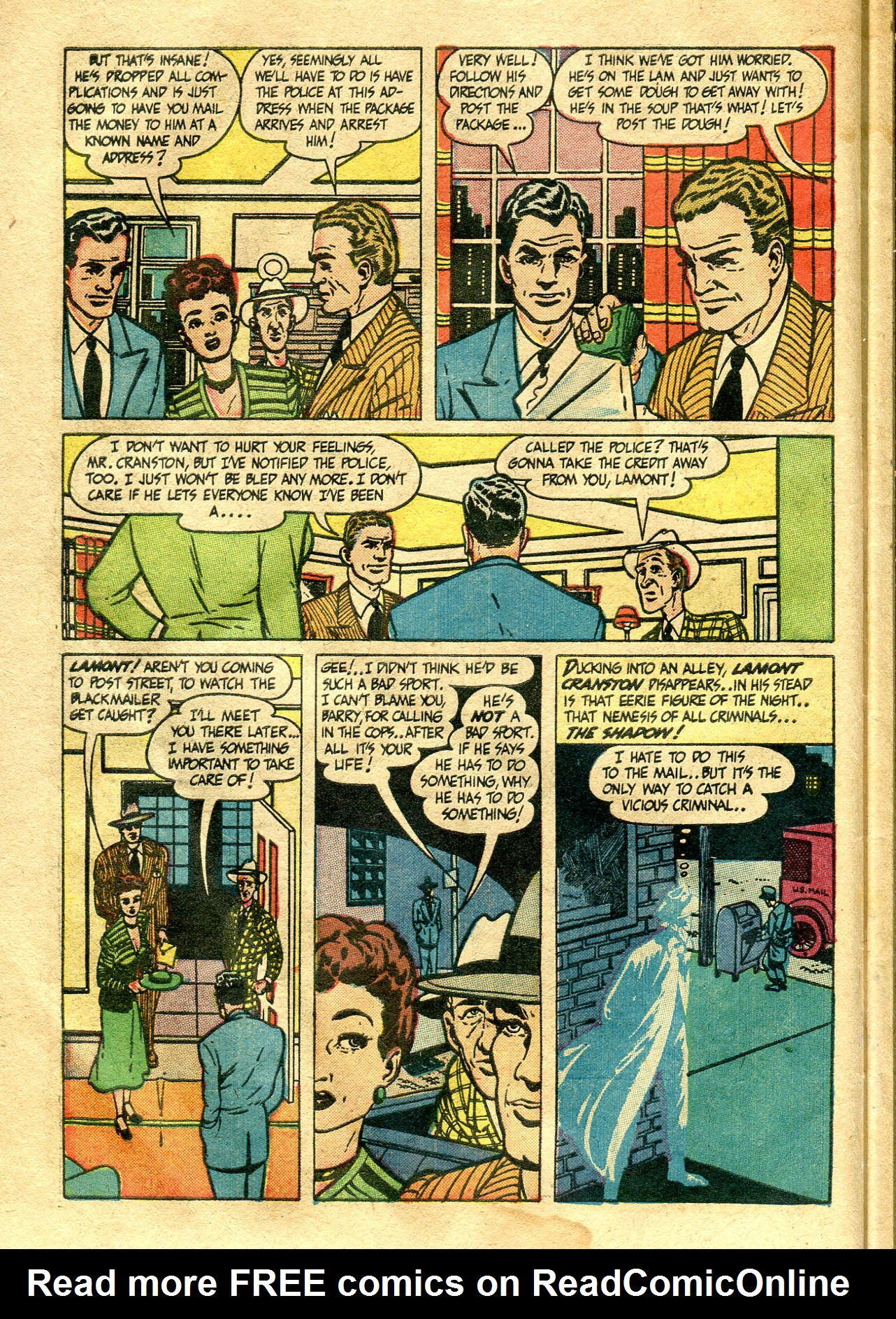 Read online Shadow Comics comic -  Issue #99 - 16