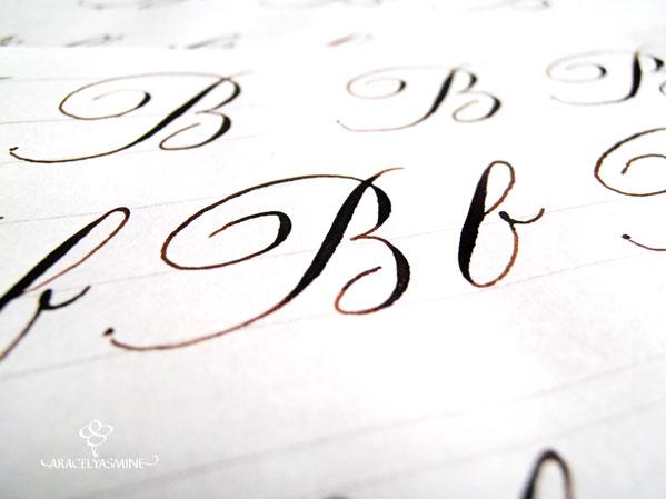 serie caligrafia copperplate para aprender a escribir el abecedario