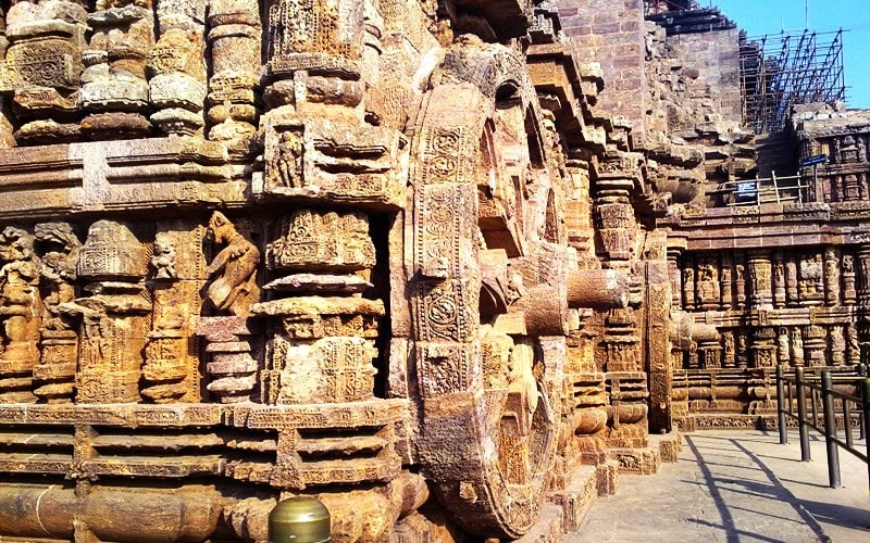 Konark Sun Temple Photo - Konark Sun temple History - stone art - ancient wheel art