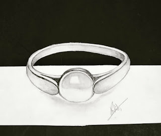 Ring drawing, pearl ring drawing, step by step tutorial for to draw ring, how to draw pearl ring, drawing for kids, easy drawing for kids, drawing for begginers, online drawing classes, 3d pearl drawing