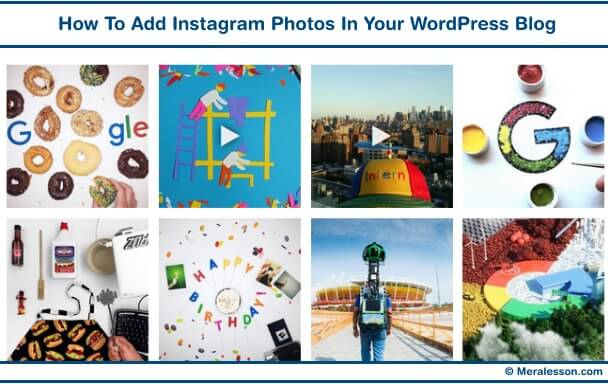 Add photo into WP blog