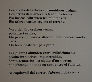 Poema: Les arrels de Joan Brossa a l'Exposició Poesia Brossa MACBA, 21 set. 2017 al 25 feb. 2018  per Teresa Grau Ros