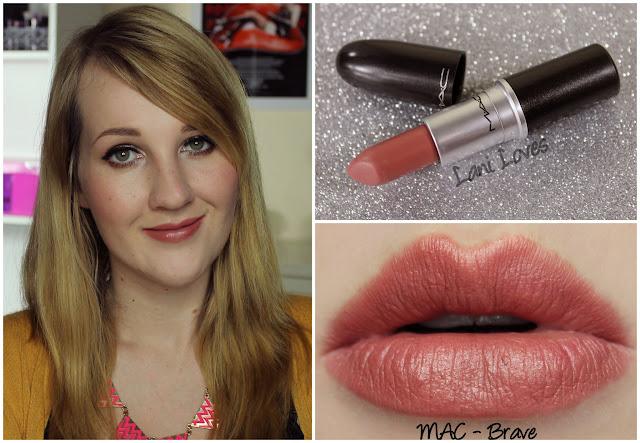 MAC Brave Lipstick swatch