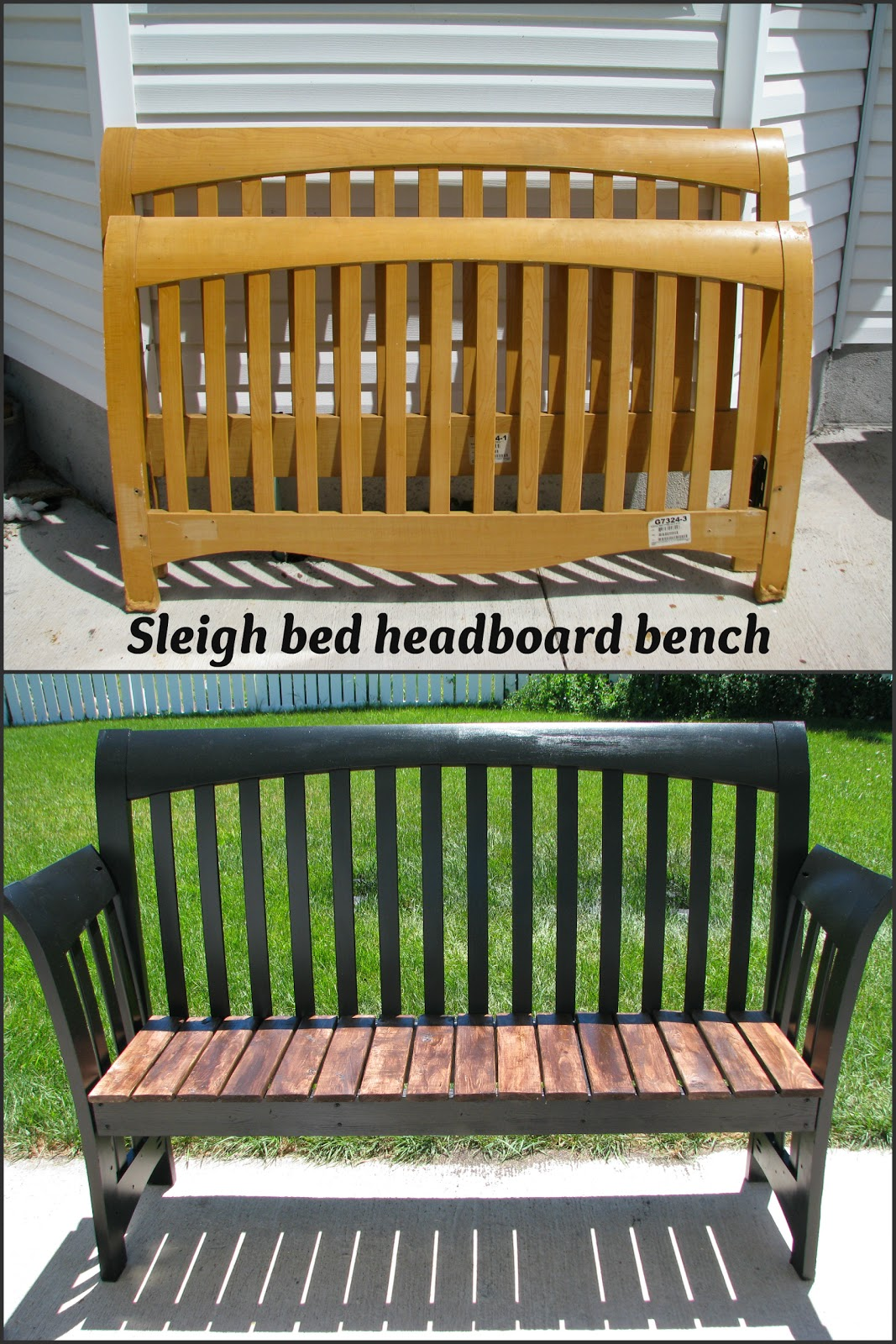 My So Called Diy Blog Sleigh Bed Headboard Bench