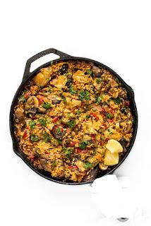 vegetarian mushroom paella