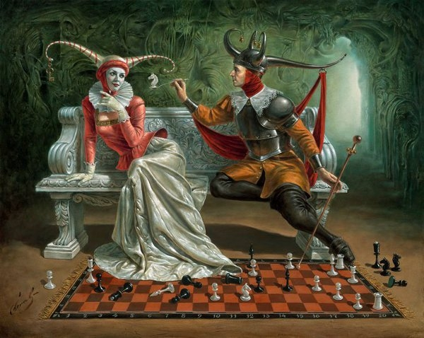 11-trojan-defense-Michael-Cheval-Surreal-Paintings-that-Draw-inspiration-from-The-East-and-West-www-designstack-co