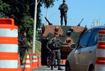 Exército faz evento-teste de segurança para a Rio 2016