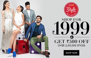 Jabong: Upto 88% Off + Extra Rs.500 Off on Min Cart Value of Rs.1999