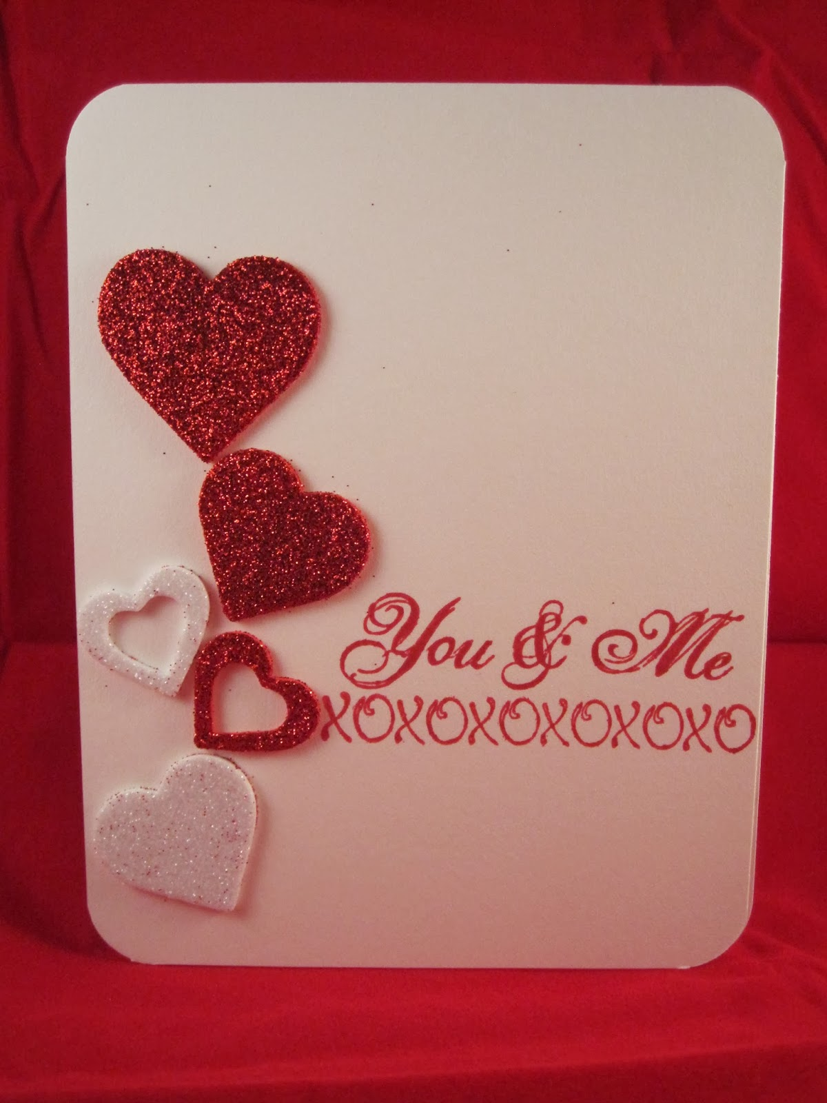 bernmakes - handmade cards by bern  clean and simple valentine u0026 39 s day card